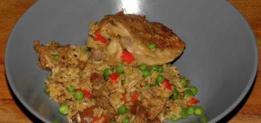 Chicken with Brown Rice and Chorizo
